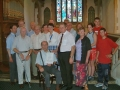 18 Bell Ringer's presentation to Bert Ridout, photo by George Woods.7-8-04