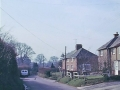 57 Crow Corner, now Netherway Cottages, 1980s. The cat sitting inthe middle of the road was Tasha