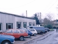 69 Forge Garage with Tony Hunt crossing the road. 1980's